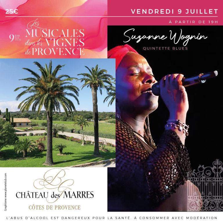 Musicale dans les vignes – Blues –  Suzanne Wognin Quintette